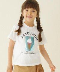 【100-150cm】スパンコールアイスクリーム柄Tシャツ
