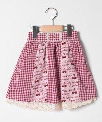 さくらんぼ×ギンガム柄スカート