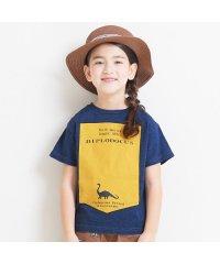 シルエットプリント恐竜Tシャツ