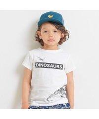 点描プリント恐竜Tシャツ