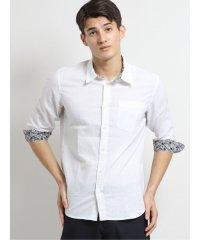 フレンチリネン混レギュラーカラー7分袖シャツ