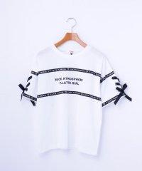 ロゴテープ×袖レースアップTシャツ