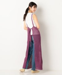 透かし編みキャミワンピース+Tシャツ