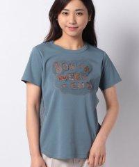 ラインストーンロゴTシャツ