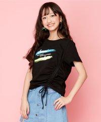 脇シャーリングTシャツ
