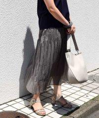 【WEB限定カラー】オーガンジープリーツスカート
