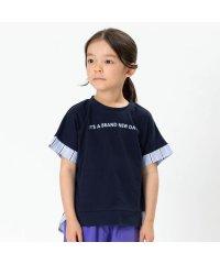 バックストライプ切替Tシャツ