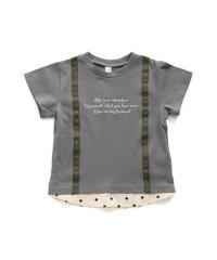 サスペンダー付きロゴTシャツ