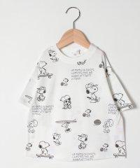 【PEANUTSコラボ】 スヌーピースポーツビッグシルエット総柄Tシャツ