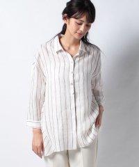 チュニック丈麻シャツ