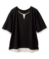 接触冷感レイヤード風Tシャツ