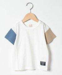袖配色切り替えTシャツ