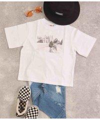 フォト×バックプリントビッグTシャツ