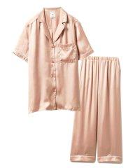 【セットアップ】ロゴサテンシャツ&ロングパンツSET