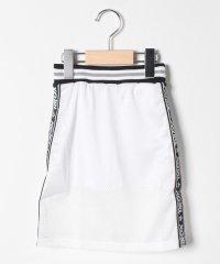 インナーパンツつきサイドロゴメッシュロングスカート