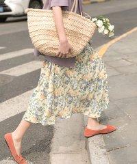 ヴィンテージ花柄シフォンスカート