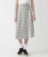 マイクロチェックドレープローンスカート