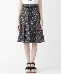 ガーデンフローラルプリントスカート