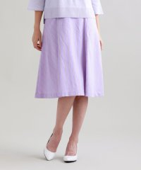 【ITALY FABRIC】シャイニーストライプスカート