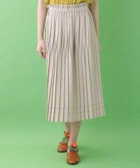 変形プリーツデザインスカート