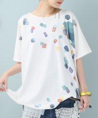 『nOr水彩模様プリントTシャツ』