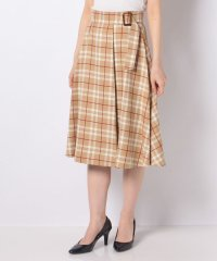 タータンチェックラップ風スカート