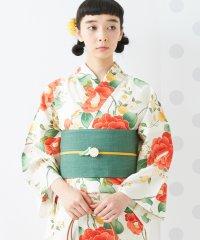 浴衣「乙女椿」/ 夏・着物・単衣・花火・祭・納涼船