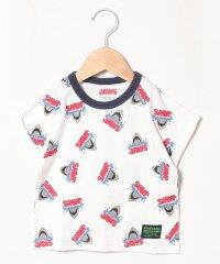 【JAWS】 総柄プリントTシャツ