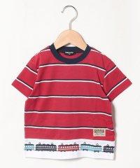 裾電車ボーダーTシャツ