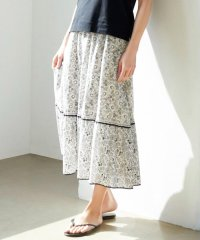 【中村アンさん着用】スカーフパネルプリント スカート(番号M27)