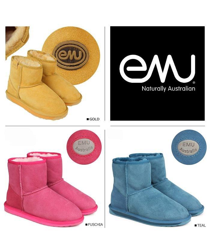 (emu/エミュー)emu エミュー ムートンブーツ スティンガー ミニ STINGER MINI W10003 レディース/レディース ゴールド