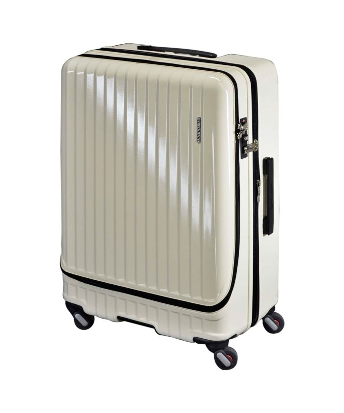 (FREQUENTER/フリクエンター)フリクエンター FREQUENTER スーツケース キャリーケース キャリーバッグ マリエ 86−98L メンズ 拡張 ハード MALIE ガンメタル アイボリ/ユニセックス アイボリー