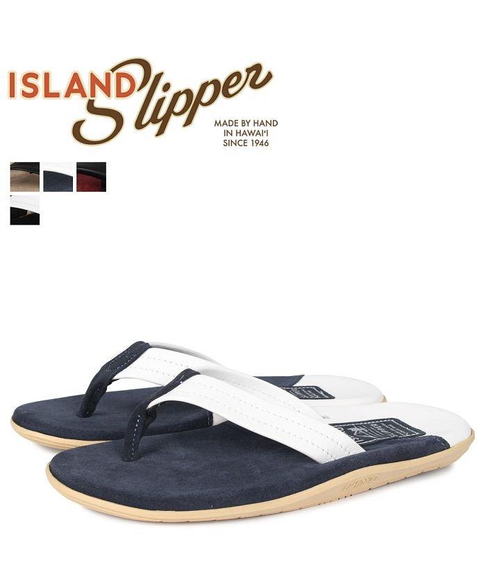 (ISLANDSLIPPER/アイランドスリッパ)アイランドスリッパ ISLAND SLIPPER スエード サンダル トングサンダル メンズ SNAKE SUEDE ブラック ホワイト ネイビー ベージュ レ/メンズ ネイビー