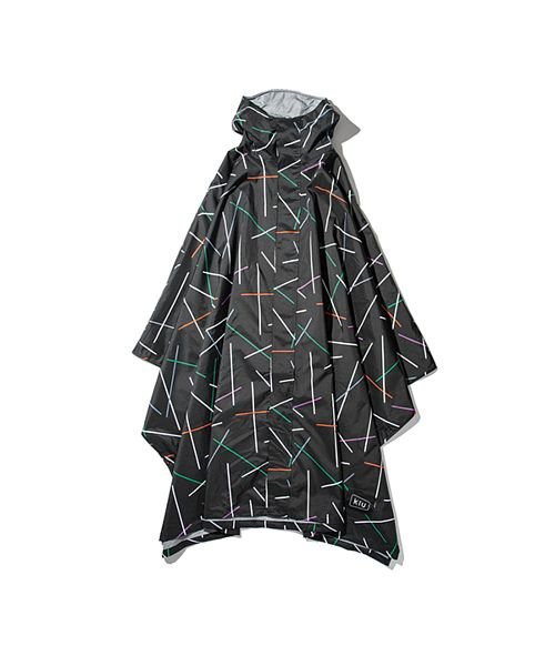 (BACKYARD/バックヤード)キウ KiU レイン ポンチョ RAIN PONCHO マイティー/ユニセックス ブラック系2