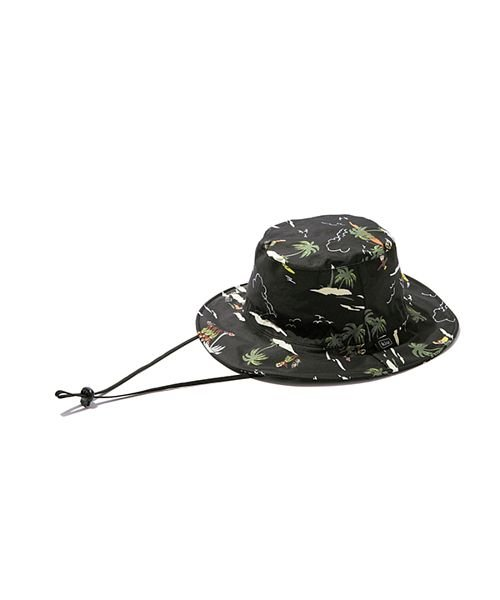 (BACKYARD/バックヤード)キウ KiU トレッキング ハット ストラップ ワイヤー 3レイヤー TREKKING HAT/メンズ ブラック系2