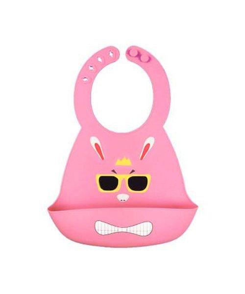 (BACKYARD/バックヤード)シリコンビブ 赤ちゃんお食事エプロン/キッズ ピンク