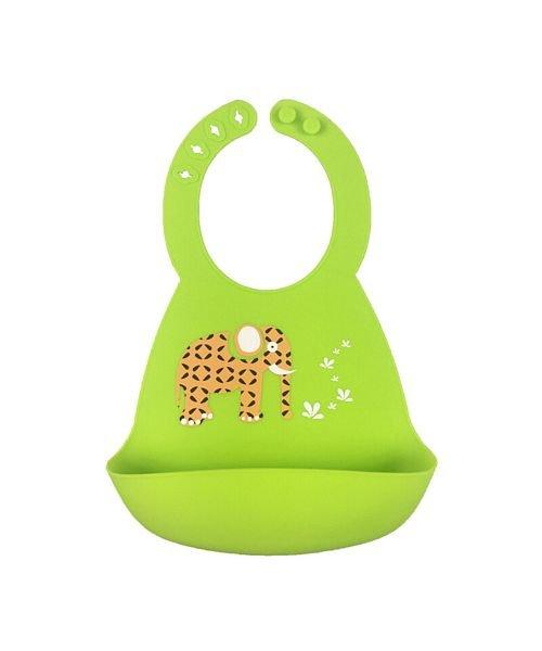 (BACKYARD/バックヤード)シリコンビブ 赤ちゃんお食事エプロン/キッズ グリーン系1
