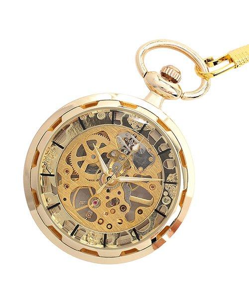 (SP/エスピー)懐中時計 PWA001−BLK ポケットウォッチ 手巻き 機械式時計 メンズ時計/メンズ ゴールド系2