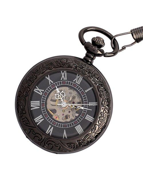 (SP/エスピー)懐中時計 PWA002−BLK ポケットウォッチ 手巻き 機械式時計 メンズ時計/メンズ ブラック系
