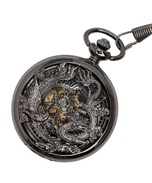 (SP/エスピー)懐中時計 PWA003−BLK ポケットウォッチ 手巻き 機械式時計 メンズ時計/メンズ ブラック系