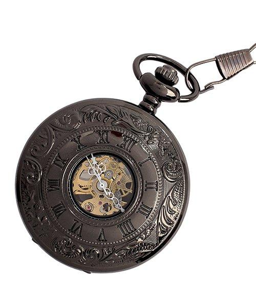 (SP/エスピー)懐中時計 PWA004−BLK ポケットウォッチ 手巻き 機械式時計 メンズ時計/メンズ ブラック系