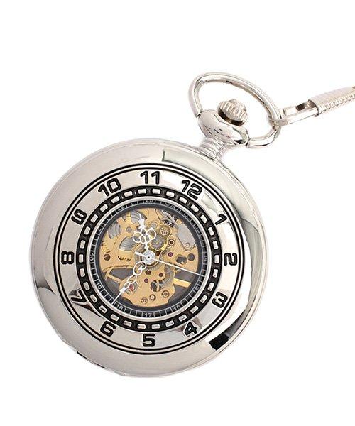 (SP/エスピー)懐中時計 PWA006−SLV ポケットウォッチ 手巻き 機械式時計 メンズ時計/メンズ シルバー系