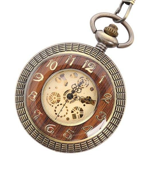 (SP/エスピー)懐中時計 PWA008−GLD ポケットウォッチ 手巻き 機械式時計 メンズ時計/メンズ ゴールド系