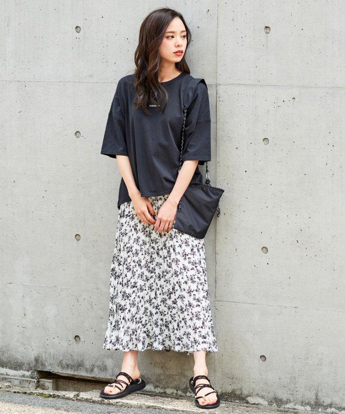 (Girly Doll/ガーリードール)ボックスロゴTシャツ/レディース ブラック