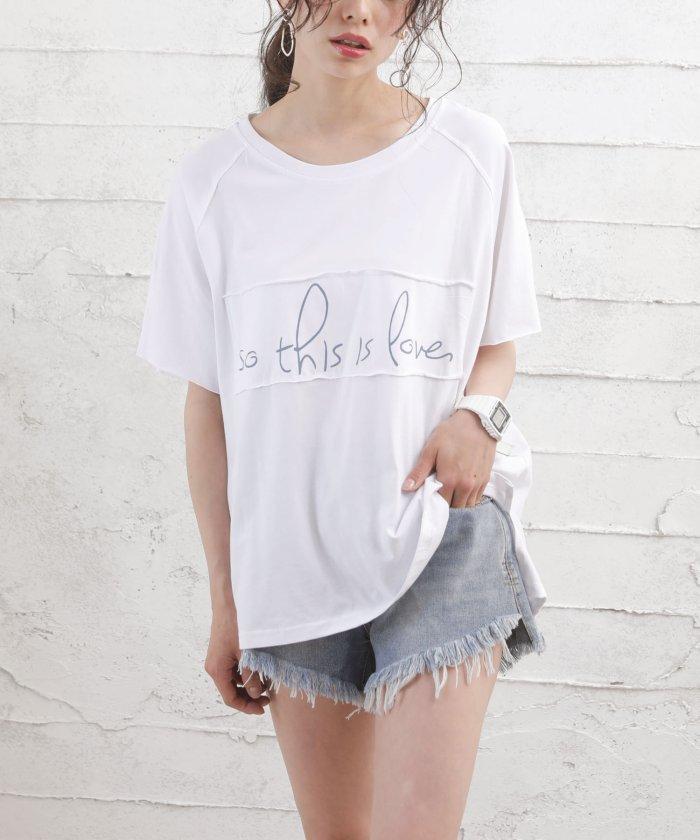 (Girly Doll/ガーリードール)【Girly Doll】ロゴTシャツ/レディース ホワイト