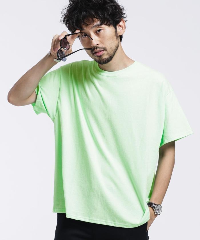 (nano・universe/ナノユニバース)GILDANビッグシルエットリメイクTシャツ/半袖/メンズ ミント2