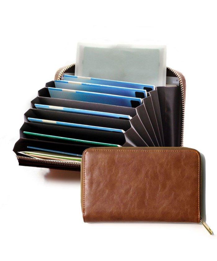 (exrevo/エクレボ)通帳ケース パスポートケース おしゃれ ジャバラ 磁気防止 レディース レザー調 通帳カバー シンプル 銀行 ゆうちょ 通帳入れ カードケース かわいい おすす/ユニセックス ブラウン