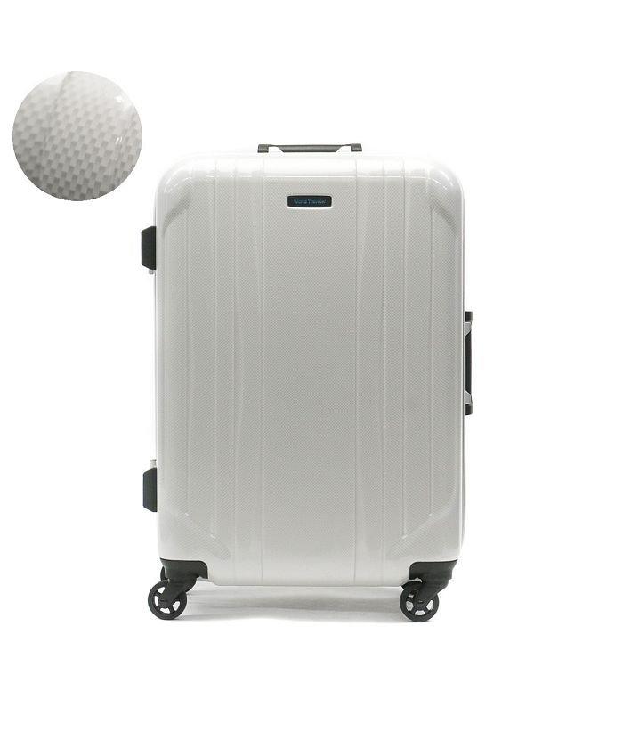 (World Traveler/ワールドトラベラー)ワールドトラベラー スーツケース World Traveler キャリーケース SAGRES サグレス 50L 1〜3泊 ACE エース 06064/ユニセックス ホワイト