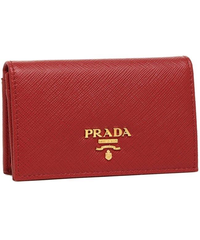 (PRADA/プラダ)プラダ 名刺入れ レディース カードケース PRADA 1MC122 QWA F068Z レッド/レディース その他