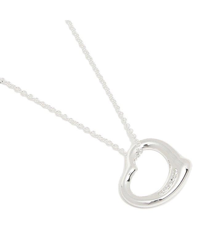 (Tiffany & Co./ティファニー)ティファニー ネックレス アクセサリー TIFFANY & Co. 26848598 オープンハート スモール 5Pダイヤモンド 16IN ペンダント シルバー/レディース その他